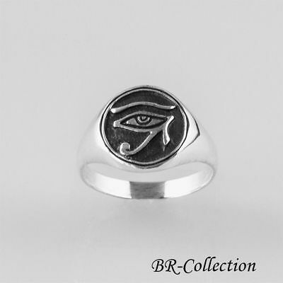 Eye of Horus Egyptian Symbol Ring Made with 925 Sterling Silver