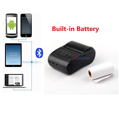 Pocket Bluetooth Thermal Receipt Mobile Printer for Android IOS Phone Tablet Mac