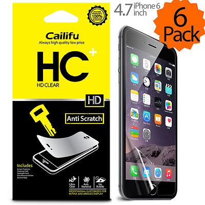 Cailifu [HD Clear] Premium Screen Protector for Apple iPhone 6 6S Plus (6 Pack)