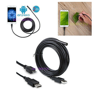 Micro USB LED Android Cellphone &PC Endoscope Borescope Inspection Camera Tablet