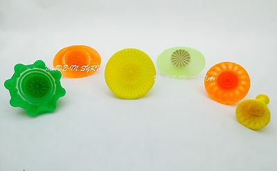 #W Set Of 6 Pistachio and Dates Maamoul Plastic Mould 6 Different Designs معمول