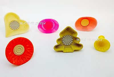 #R5 Set Of 6 Pistachio and Dates Maamoul Plastic Mould 6 Different Designs معمول