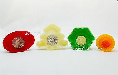 #Q Set Of 4 Pistachio and Dates Maamoul Plastic Mould 4 Different Designs معمول