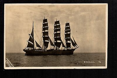 "Sailing Ship - ""Richelieu"" - real photographic postcard"