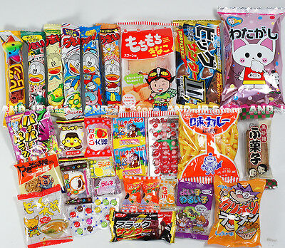 Japanese Candy 30pcs set Mochi Ramune ball Chocolate Ramen Snack Dagashi /DN30