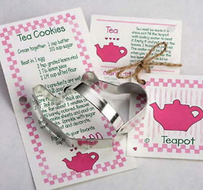 Ann Clark TEAPOT & TEACUP Tin Plated Steel Cookie Duo  USA