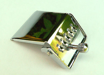 Chrome plated 4 or 5 string Banjo Tailpiece Plate with single tensioner