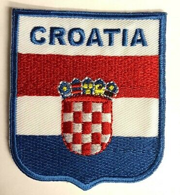 CROATIA National Country Flag Embroidered Sew/Iron On Patch Patches