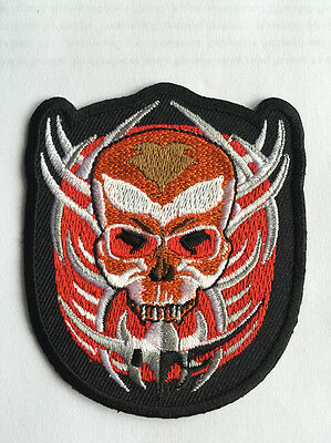 Sew On Patches Badges  11x8cm Grim Reaper  Embroidered Iron On