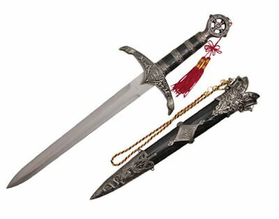 """17"""" Legend of Robin Hood Dagger Sword With Scabbard Brand New"""