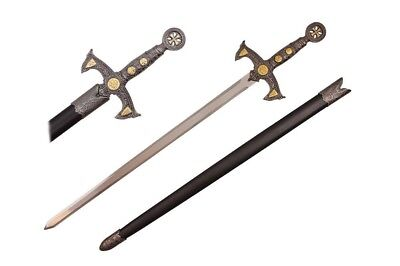 """38"""" 12th Century Templar Knight Medieval Sword with Scabbard Sword New"""