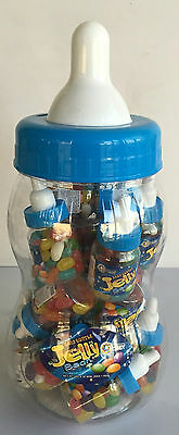 Big Blue Baby Bottle With 20 Mini Bottles Jelly Beans Baby Shower Candy Buffet