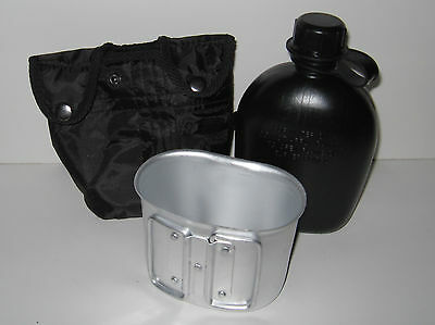 1 Qt Plastic Canteen -Black Canteen Cover with Cup