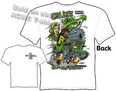 Rat Fink T Shirt Volkswagens Rule Bug Beetle Big Daddy Roth Tee Sz M L XL 2XL 3X
