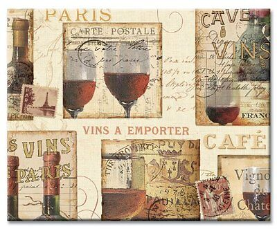 NEW CounterArt French Cellar Glass Cutting Board  15 by 12 Inches
