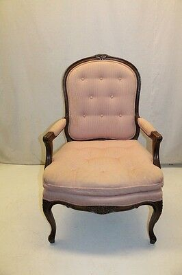 Elegant French Louis XV Style Walnut Fauteuil Living Room Side Chair