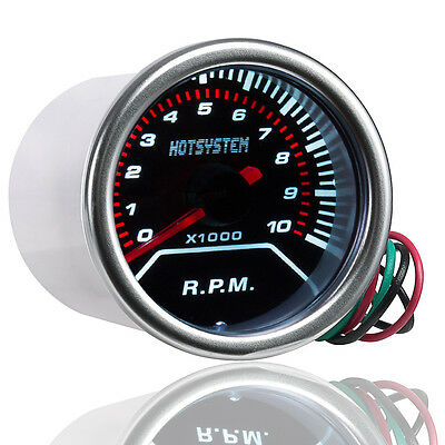 "CAR 2"" 52mm TINT LEN LED POINTER RPM TACHOMETER TACHO GAUGE METER R.P.M RPM AU"