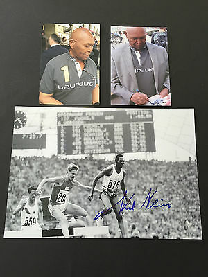 KIP KEINO 2 x OLYMPIASIEGER 1968/72  In-person  signed Photo 20x30