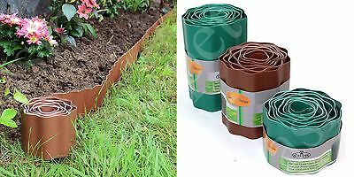 Plastic Lawn Border Edging Garden Grass Edge Fence Wall Driveway Roll Path Drive