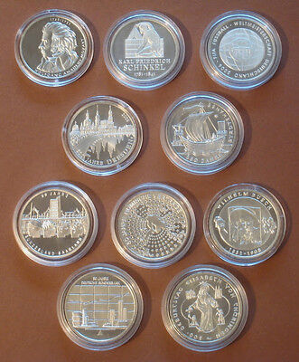 All 10 Silver Commemorative Coins Year 2006 And 2007