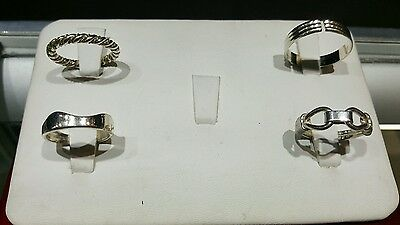 Lot of sterling silver rings 4pc