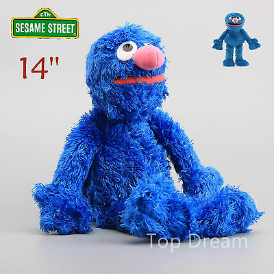 OFFICIAL Sesame Street Grover Beanie Plush Toy Soft Stuffed Doll 14'' Teddy Gift