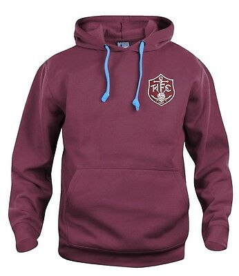 Retro Thames Ironworks 1895 West Ham Football Hoodie S-XXXL Embroidered Logo