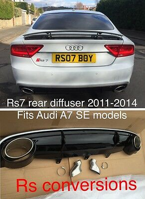 2011-2014 A7 Se Rear Audi Rs7 Diffuser Style Fits C7 Se Only Not Sline Bumper