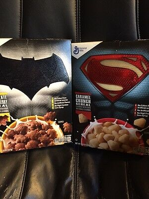 Batman V Superman Dawn of Justice Cereal 2 Box Set Collectors Edition *New*