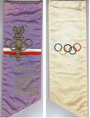 Orig.silk pennant  Poland Olympic Comittee - for the Olympics 1976  !! VERY RARE