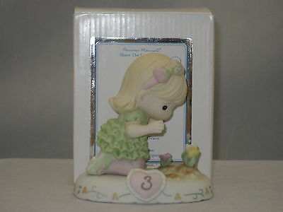 Precious Moments * Growing In Grace Age 3 Blonde (New Color) 142012 NIB