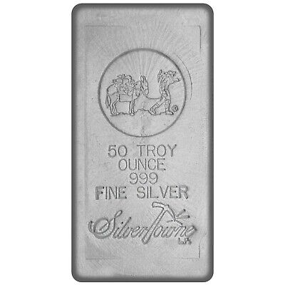 SilverTowne Hand-Poured 50oz .999 Fine Silver Bar