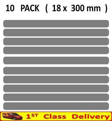 10 x Anti Slip Strips Non Slip Grip Safety Sticky Self Adhesive GREY - T103