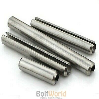 M8 / 8mm STAlNLESS STELL SLOTTED SPRING TENSION PINS SELLOCK ROLL PINS DIN 1481