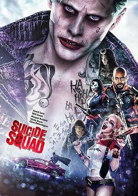 Suicide Squad The Joker Harley Quinn Batman Art Print Photo Poster A3 A4