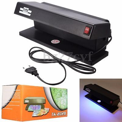 220V UV LED Light Counterfeit Forgery Dummy Money BankNote Detector Checker Test