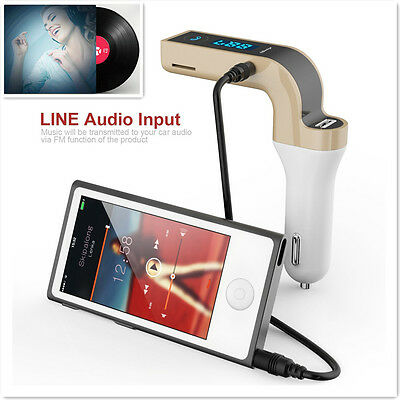 Car MP3 Player Bluetooth FM Wireless Transmitter LCD Car Charger Kit for iPhone