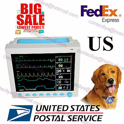New Veterinary ICU vital Sign Patient monitor,6 parameters,CONTEC CMS8000VET,FDA