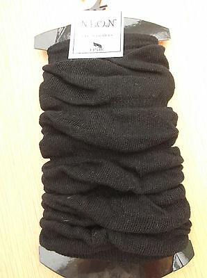 Womens Ladies Girls Black Ruched Light Leg Warmers Brand New With Tags
