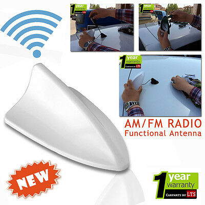 BMW E46 Shark Fin Functional White Antenna (Compatible for AM/FM Radio)