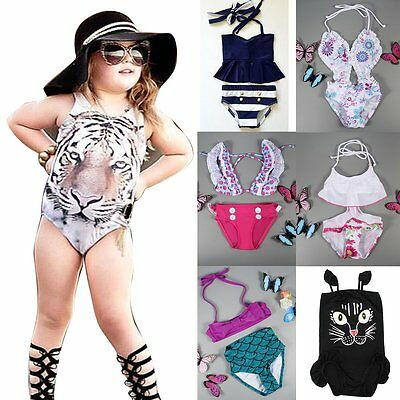 Toddler Kids Baby Girls Tankini Bikini Set Swimwear Swimsuit Bathing Beachwear