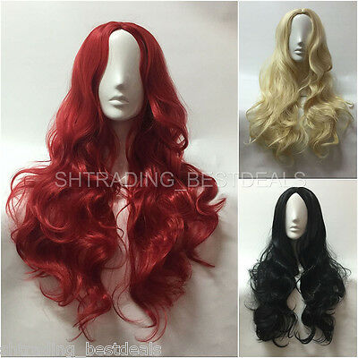 75cm Long Wavy Synthetic Hair Wigs Cosplay Lolita Fashion Wig for Women Girls