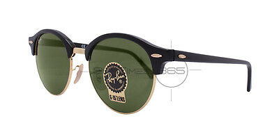 RAY BAN CLUBROUND RB4246 901 51 Black / Green Classic G-15