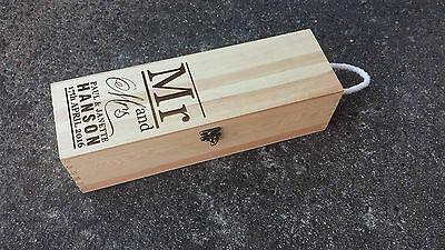 Personalised Wine Gift Box Type 13 Wedding Engagement