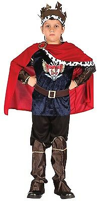 Boys 7 Piece Medieval King Warrior Book Day Fancy Dress Costume Outfit 4-12 yrs
