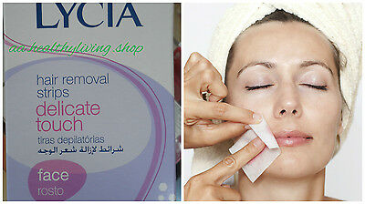 LYCIA Delicate Touch Face Hair Removal x20 Wax Strips For Sensitive Skin
