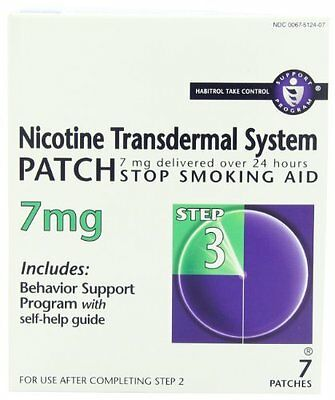 3 Pack - Habitrol® Nicotine Transdermal System Patch 7MG Step 3 7 Patches Each