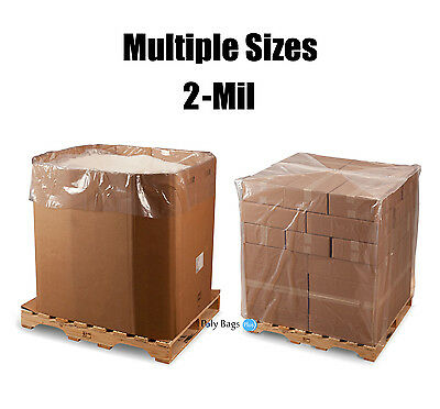 Clear 2Mil Gaylord Box Bin Liners Pallet Covers Gusseted Bags Plastic Poly LDPE