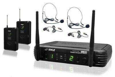 PYLE - PDWM3400 - Premier Series Professional UHF Microphone System with (2) Bod