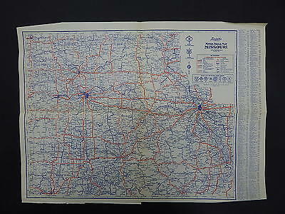 Missouri Arkansas Louisiana Vintage Maps Motor Club 1930's Langwith's R9#78